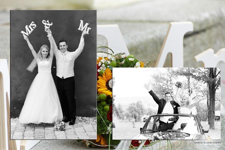 Hochzeit in der Steiermark, Bilder in SW auf Farbe